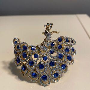 Peacock jeweled bracelet bangle